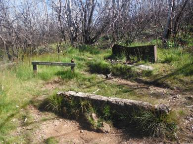 Ruins of the last hut on the spur