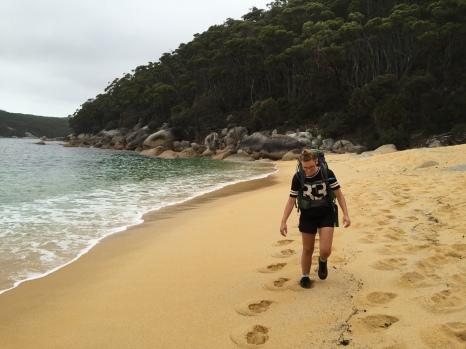 Granitic sand beach
