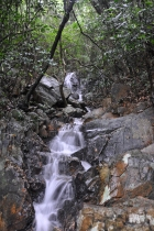 One of many waterfalls in the park