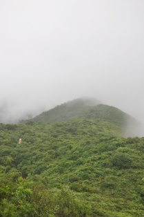 Shek O peak hidden in the mist