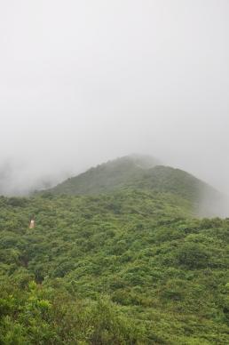 Shek O peak hidden in the mist